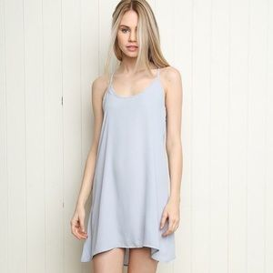 John Galt/ Brandy Melville baby blue slip dress